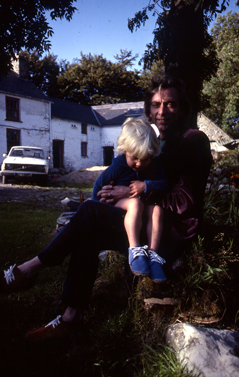 Nicky Paul sitting on my lap at Gwarthlyn Penuwch October 1983 475px.jpg